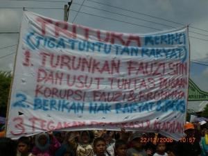 Tritura Rakyat Kerinci, 22 Desember 2008